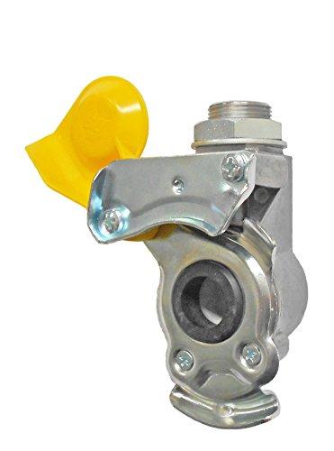 Fahrzeugbedarf Wilms Kupplungskopf, gelb, mit integr. Leitungsfilter, M16x1,5 / M24x1,5 p.f. Deichselanhänger