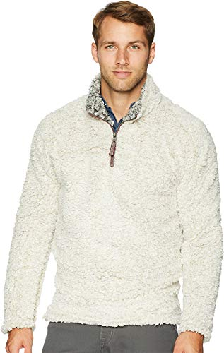 True Grit Frosty Tipped Pile 1/4 Zip Pullover Oatmeal XS