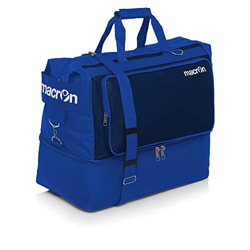 BORSONE MACRON TOPEKA HOLDALL PALESTRA FITNESS SPORT BORSA CALCIO BAGS FOOTBALL TRAINING (Azzurro / Blu Navy, Large)