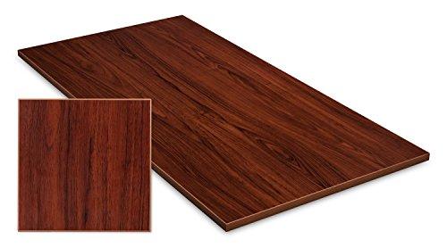 Exeta Tischplatte Schreibtisch Arbeitstisch Bürotisch Tisch in Nussbaum Holzoptik