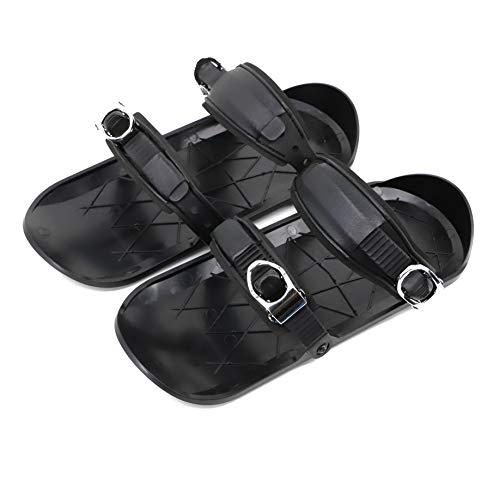 XINJIE Skiboard Snowblades Botas de esquí, Patines de Mini portátiles de Snowboard para Mujeres y Hombres, propicio para el Entretenimiento de Invierno, Negro