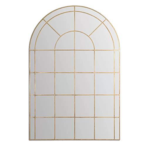 Z-jingzi Espejo de Pared de Longitud Completa decoritive, 23 x 51 Pulgadas, Acento Enmarcado en la Ventana del Arco, Espejo Colgante de Madera de Estilo Vintage,decoración de la Sala de Estar