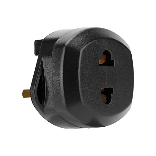 Intirilife 4X Steckdosen Adapter in SCHWARZ – 4er Set UK Typ G auf USA Typ A Steckdosen Stromadapter Reisestecker für z.B. Amerika, Japan, Kanada, Thailand – Typ A Reiseadapter Netzstecker Converter