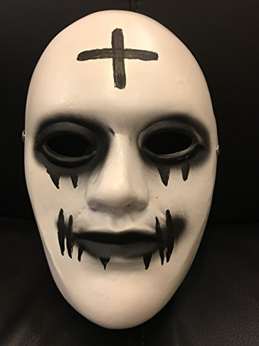 WRESTLING MASKS UK Fibreglass Deluxe The Purge Anarchy Cross Mask Buckle Strap - Universal