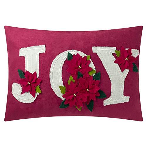 KING Rose Weihnachten Joy dekorativer Überwurf-Kissenbezug Kissen Fällen für Sofa Couch Stuhl Art Deco 14 X 20 Inches Joyflower