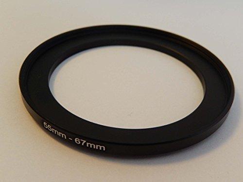 vhbw Adaptador de Filtro Step up 55mm-67mm Negro para cámaras Tamron 90...