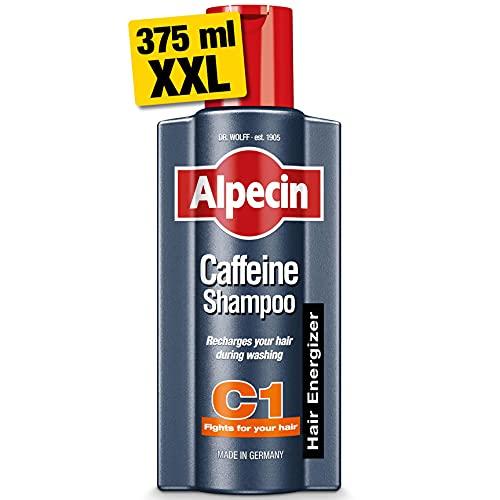 Alpecin Coffein-Shampoo C1, 375ml, XXL Shampoo, Stimuliert die Haarwurzeln, Für fühlbar mehr Haar