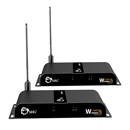SIIG 1080P Wireless HDMI Extender Kit with IR Remote Control - 165 Feet (50m) HDMI 1.3 HDCP 1.2 - 2.4Ghz Signal - Wall Mountable - Version 2.0 With Wi-Fi Extension Antenna