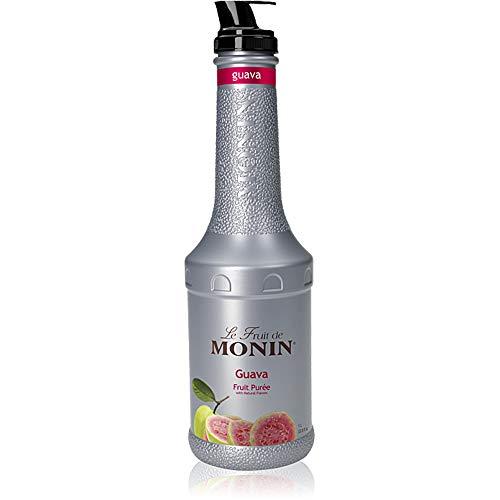 Monin - Guava Fruit Purée, Juicy Guava Taste, Perfect for Lemonades, Teas, Cocktails, Mocktails, Culinary Dishes & More, Vegan, Non-GMO, Gluten-Free (1 Liter)