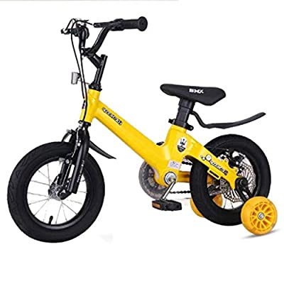 AJZGF Bikes for Kids Children's Bicycles, Children's Bicycles, Magnesium Alloy disc Brakes, Pedal Bicycles, Suitable for Children of All Ages Childrens Bike by AJZGF