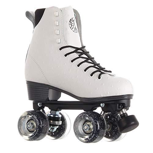 Skates Luna Quad Roller Figur Rollschuhe (Princess Weiss, EU39/ UK6 / US 8.5/25.2cm)