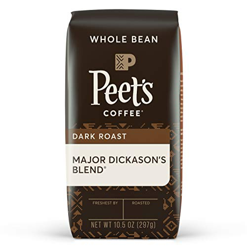Peet's Coffee Major Dickason's Blend, Dark Roast Whole Bean Coffee, 10.5 oz