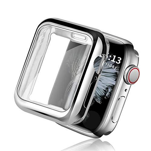 WSGGFA Cubierta del Reloj Delgado 360 para la Serie de la Caja del Reloj de Apple 5 4 3 2 1 42mm 38mm Protector de Pantalla de TPU Transparente Suave para iWatch 44mm 40mm