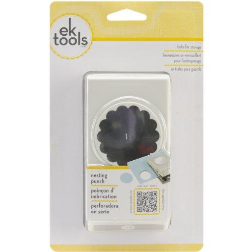 EK Tools Troquel Círculo Festoneado, Plástico y Metal, Gris, 3.58x12.01x19.46 cm