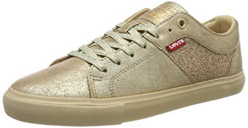 Levis Woods W, Zapatillas para Mujer, Dorado (Shoes 4), 38 EU