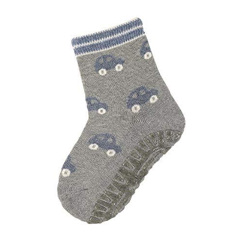 Sterntaler Baby-Jungen FLI AIR Autos Socken, Silber Mel, 19/20