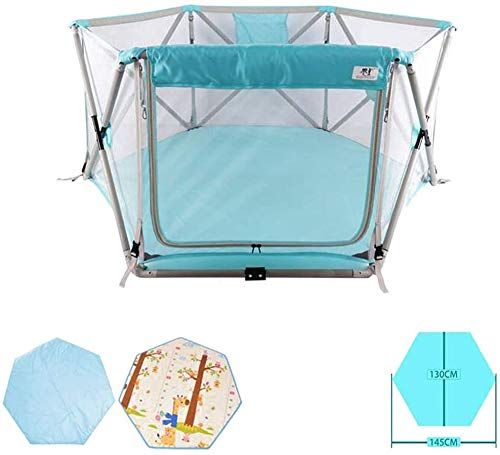 Interessant Beschermende Activity Centre Tenten baby Game Box Kinderspeelgoed Playpen baby Playpen Opvouwbaar en Portable Ingericht MatStrong en duurzaam Play Pen Infant Toys House (Color : B)