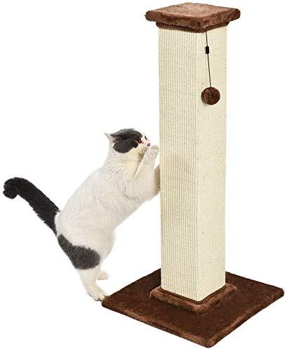 SIMMON Poste rascador para Gatos de Primera Calidad, Alto y Grande, 40,6x88,9x40,6 cm, Alfombra marrón