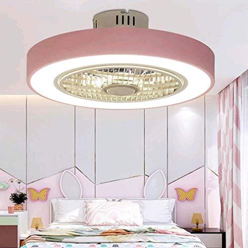 HYRGLIZI Iluminación y Control Remoto Ventilador de Techo Invisible silencioso Luz Moderno Dormitorio Creativo Sala de Estar Comedor Estudio Araña