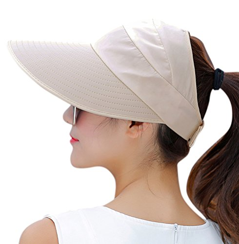 womens novelty sun hats HINDAWI Sun Hats for Women Wide Brim UV Protection Summer Beach Packable Visor
