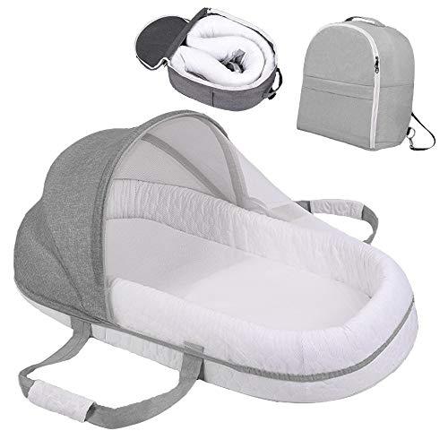 Baby Kissen,Bettumrandung,Laufstall,Multifunktions tragbares Babybett Schlafnest Reisebetten Baby Nest für Neugeborene Tragbare Kinderbetten für Baby Multifunktion