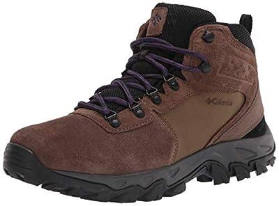 Columbia Men's Newton Ridge Plus II Suede Waterproof Hiking Boot Shoe, Dark Brown/Cyber Purple, 11.5
