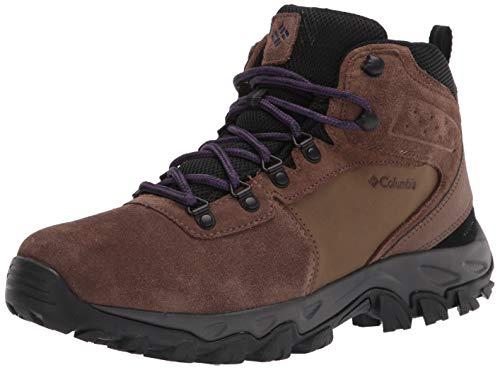 Columbia Men's Newton Ridge Plus II Suede Waterproof Hiking Boot Shoe, Dark Brown/Cyber Purple, 11
