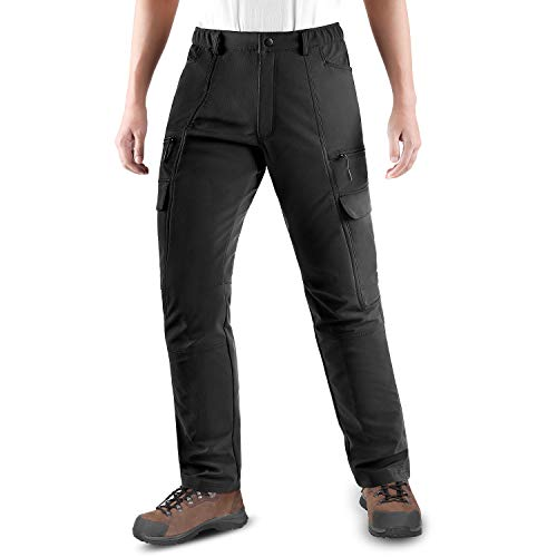 KUTOOK Pantalones Softshell Trekking Hombre Impermeables para Otoño Invierno Pantalones Senderismo Montaña con Forro Polar(HP020)