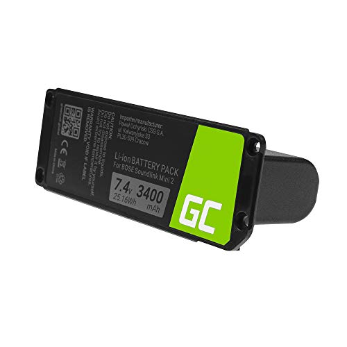 Green Cell  088772 Batteria per altoparlante wireless Bose Soundlink Mini 2 II MMPRA0071 MMPRA0072 725192-1110 725192-1310 725192-1710 725192-171R (Li-Ion celle 3400mAh 7.4V) un anno di garanzia