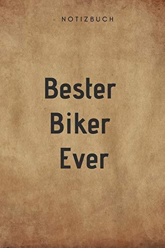 Bester Biker Ever Notizbuch: 108 Seiten mit Punkten (6x9 /15.24 x 22.86 cm) Geschenk an einen besondern Motorradfahrer lederoptik