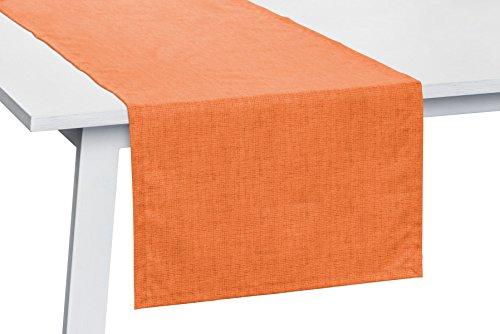 Pichler Pinto Tischwäsche abwaschbar Tischläufer 50x140cm orange