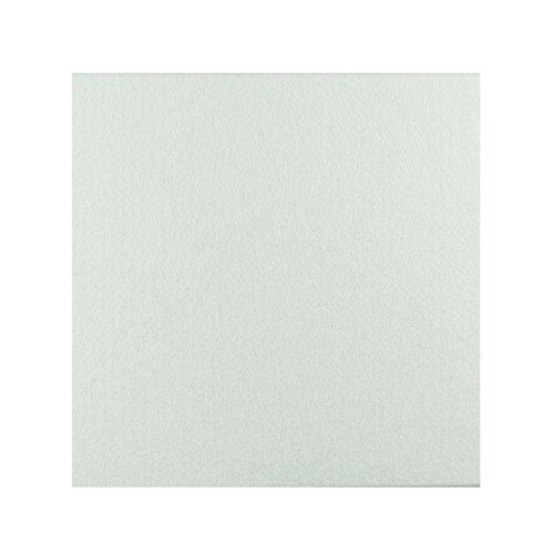 6枚入り 吸音材 斷熱用 吸音ボード 硬質吸音 フェルトボード 吸音パネル 吸音カラー 400×400mm×厚さ9 mm 直角 (ホワイト)