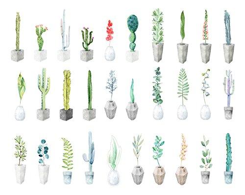 Secret Botanical Garden Theme Colorful Bookmarks, 30 PCS