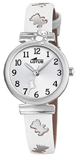 Lotus watches reloj unisex analógico de cuarzo con correa de piel de becerro 18627/1