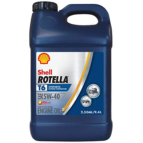 Shell Rotella T6 Full Synthetic 5W-40 Diesel Engine Oil (2.5-Gallon, Single Pack)