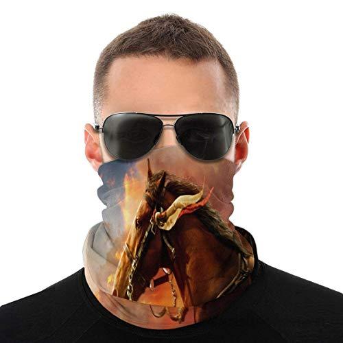 EU Écharpe de tête de cheval en plein air bouclier facial bracelet bandeau cheveux bandeau foulard
