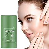 Allegorly Grüner Tee Purifying Clay Stick Mask Gesichtsmaske, Stick Deep Cleansing Ölkontrolle Anti-Akne-Maske Fine Solid Mask Green Tea, Mitesserentferner Gesichtsmaske Poren schrumpfen Ölkontrolle