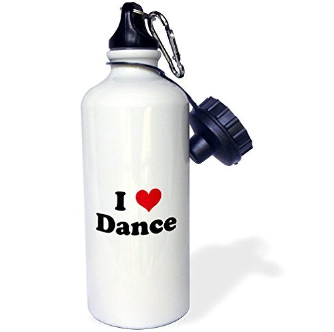 Moson Sports Water Bottle Gift for Kids Girl Boy, I Love Dance Stainless Steel Water Bottle for School Office Travel 21oz