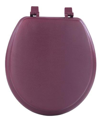 Achim Home Furnishings Burgundy TOVYSTBU04 17-Inch Fantasia Standard Toilet Seat, Soft
