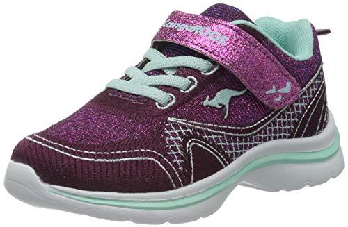 KangaROOS Mädchen KangaGirl EV II Sneaker, Dk Berry/Mint, 34 EU