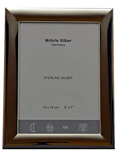 Bilderrahmen Glatt aus 925 Sterlingsilber 13x18 cm