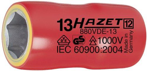 Hazet 880VDE-13 Douille carré creux 10 mm/profil traction à 6 pans extérieurs Taille 13 longueur 43,5 mm