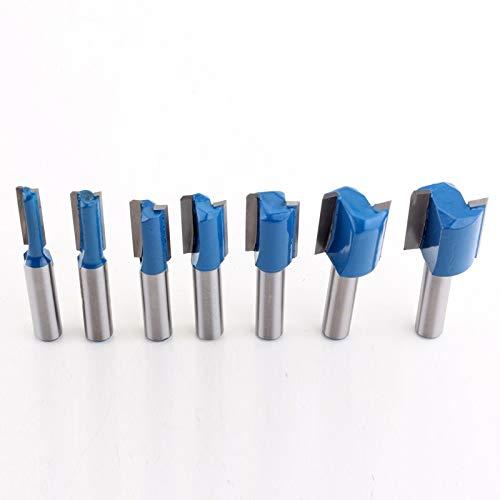 NO LOGO 7pcs 8mm Fräser Schaft Fräser Set 6,8,10,12,14,18,20mm Durchmesser Holzschneidewerkzeug