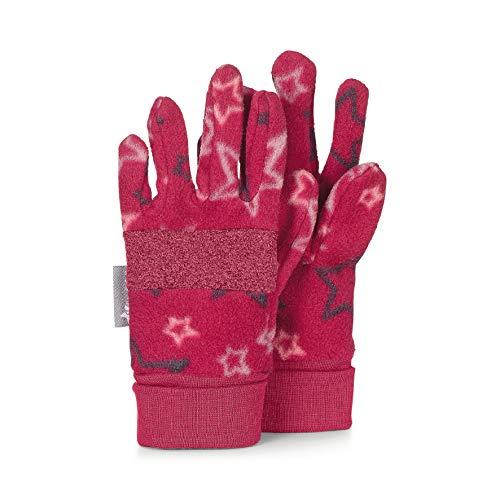 Sterntaler Fleece-Fingerhandschuhe mit Sternen-Motiv, Alter: 3-4 Jahre, Größe: 3, Rot (Beerenrot)