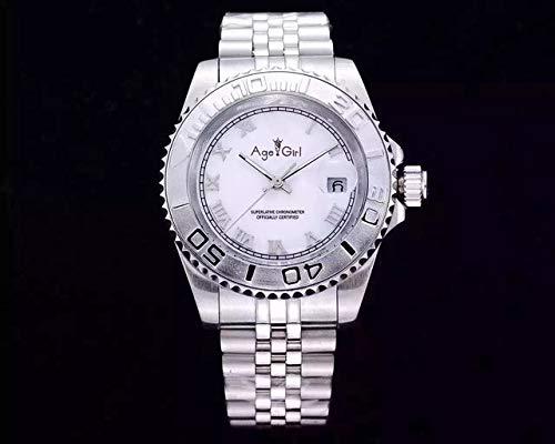 HHBB Marca de lujo acero inoxidable zafiro impermeable relojes hombres automático mecánico plata negro Roma Dial mate 41mm Dial Aaa+ 5