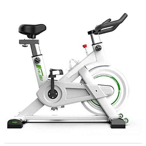 FCFLXJ Bicicleta estacionaria de excersización Interior, Profesión Fitness Ciclismo Distancia, Tiempo, Velocidad, calorías, Ritmo cardíaco,Blanco