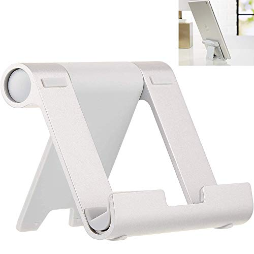 Multi-Angle Portable Stand for Tablets, E-readers and Phones - Silver