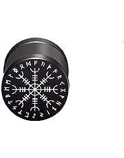 CHICNET Viking Celtic Nordic - Orecchino finto dilatatore, in acciaio inox, con chiusura a vite, 10 mm, rotondo, 6 mm di lunghezza, 1,2 mm di lunghezza, Viking Celtic Nordic
