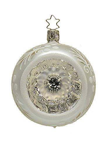 Boule en verre soufflé Collection Ø8 – Argent et Blanc cm.8