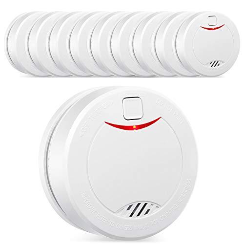 Alarma de humo independiente de 10 años con batería HEIMAN, VdS, BOSEC, EN14604, detector de humo con certificación CE, sensor fotoeléctrico con modo de silencio y botón de prueba Alarm-626PHS (1 Unidade)